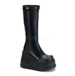 Demonia Stomp 300 Gothic Industrial Cyber Buckle Heels Platform Boots