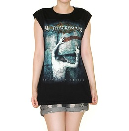 Remains Black Tank Top Music Rock Shirt Size L