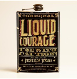 Theatre Bizarre Liquid Courage Flask