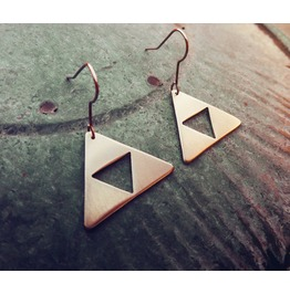 Triforce Legend Of Zelda Pendant Earrings