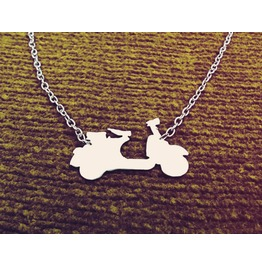 Vespa Scooter Necklace