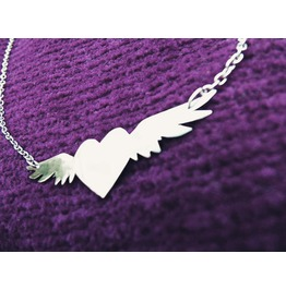 Winged Heart Love Necklace