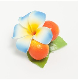 Rockabilly Orange Plumeria Hair Flower