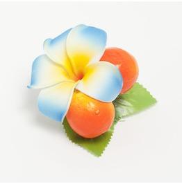 Rockabilly Orange Plumeria Hair Flower