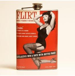 Bettie Page Flirt Flask