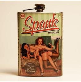Bettie Page Spank Flask