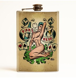 Mitch O'connell Man's Ruin Flask