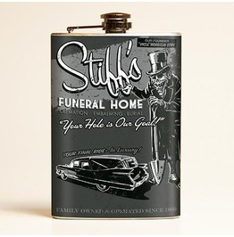 Stiff's Funeral Home Flask