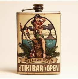 Tiki Bar Is Open Flask
