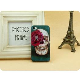 Skull Head Flower Phone 4 Case Punk Phone 4 Case
