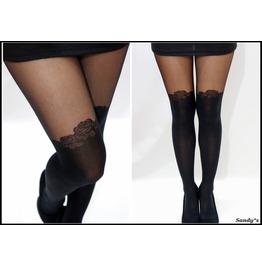 Rose Detail Thigh High Stockings/ Pantyhose/ Tights