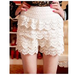 Lace Shorts / Pantalones Encaje Wh320