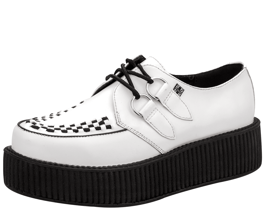 Black And White Creeper Shoes