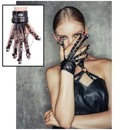 Punk Skull Chain Wristband Ge001/2
