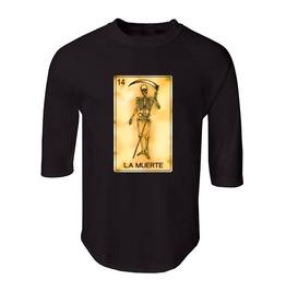 "Men's ""La Muerte"" 100% Cotton Jersey Raglan"