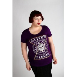 Stars Align Purple Tshirt Top