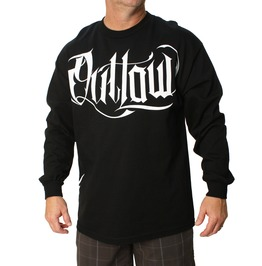 Script Long Sleeve Mens Tee