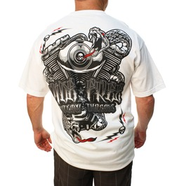 Ride Free White Mens Tee