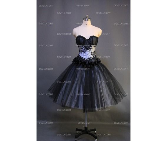 Black Gothic Corset Prom Dress 99052