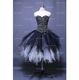Alternative Fashion Black And Ivory Gothic Corset Prom Party Dress