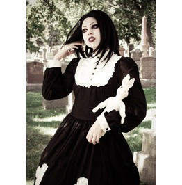 Gloomth Gothic Hymn Dress With Cross Appliques