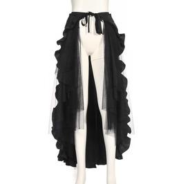 Steampunk Maxi Ruffle Skirt B100
