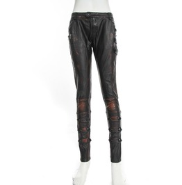 Steampunk Leather Women Pants B058