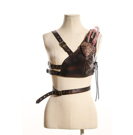 Steampunk Heart Shape Vest B075