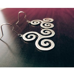 Triskelion Celtic Bdsm Symbol Earrings Triskel 925