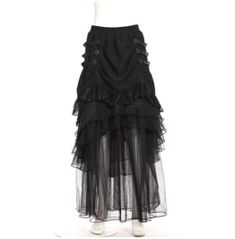 Steampunk Ruffle Long Skirt B120