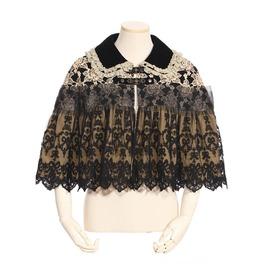 Rq Bl Steampunk Lace Cloak Sp118