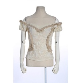 Steampunk Off The Shoulder Lace Tops B055