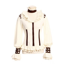 Gothic Leather Straps Blouse B105
