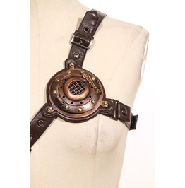 Steampunk Faux Leather Chest Strap Women's Harness Belt B074