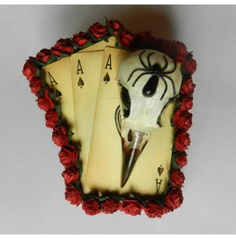 Ace Of Spades Spider Crow Hair Clip