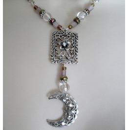 Gypsy Moon Necklace, Boho Bohemian Hippie Moroccan New Age
