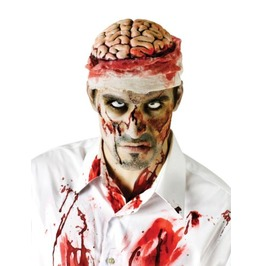 Zombie Brains Hat Bloody Brain Skull Head Organs Halloween Costume Monster