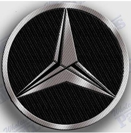 Mercedes Benz Iron On Embroidered Patch Patches 2.0 X 2.0 Inches Auto Car