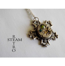 Snowflake Steampunk Necklace Steampunk Jewelry Swarovski Necklace
