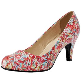 Tuk Pink Mulitcolored Sprinkles Kitten Heel Pump Shoes Free Shipping To Usa