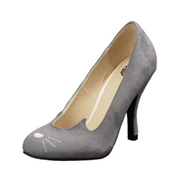 Tuk Kitty Heels Grey Cat Anti Pop Kitten Heels