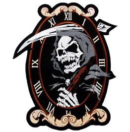 Reaper clock back patch 31cm x 27cm 12 x 10 1 2 sew on patches