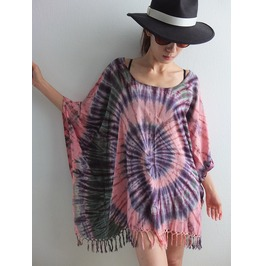Poncho Hippie Tie Dye Fashion Pop Rock Indie Shirt T Shirt Dress
