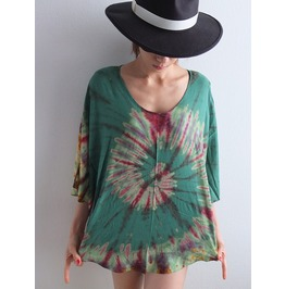 Poncho Fashion Hippie Tie Dye Color Poncho Fashion Shirt
