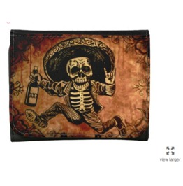 Day Of The Dead Posada Bandito Inspired Wallet Faux Leather Or Leather