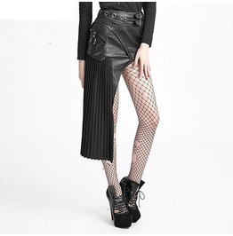 Gothic Steampunk Black Asymmetric Skirt