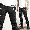 Distressed vintage coated black slim biker jeans 157 pants and jeans 6