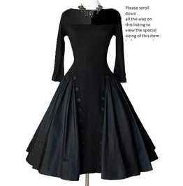 Black Is Black Retro Style Open Back Dress 11432853 Tb