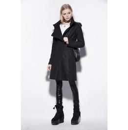 Punk Style Black Wool Women Jackets