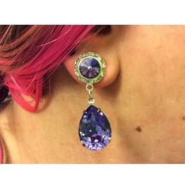 7/16 00g 0g 2g 4g 6g 8g 10g 12g 1 Pair Tanzanite Dangle Plugs Gauges